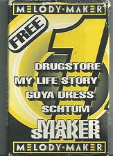 Various Melody Maker Shaker  CASSETTE 4 tracks Indie Rock  Drugstore Goya Dress