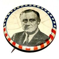 """1940 FDR Franklin D. Roosevelt 1.25"""" campaign pin pinback button presidential"""