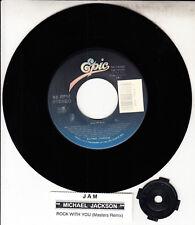 "MICHAEL JACKSON Jam & Rock With You 7"" 45 rpm vinyl record + jukebox title strip"