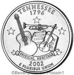 2002 Tennessee State Quarter Philadelphia Denver 2 Coin Set