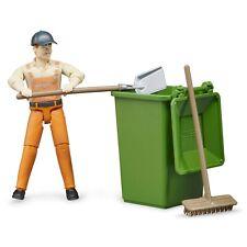 BRUDER World Figure Set Waste Disposal Garbage Man 62140