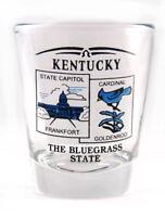 KENTUCKY STATE SCENERY BLUE NEW SHOT GLASS SHOTGLASS