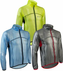 Aero Tech Lightweight Packable Cycling Rain Jacket Packable, Breathable
