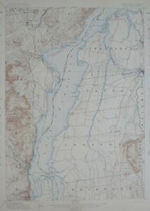 Original 1898 LAKE CHAMPLAIN STEAMBOAT Map Port Henry New York Vergennes Vermont