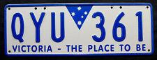 "Nummernschild Australien aus Victoria ""THE PLACE TO BE"". S-3786."