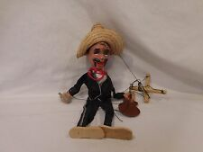 Vintage Mexican Marionette Puppet With Guitar  Mexico