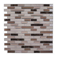 Peel & Stick 3D Self Adhesive Mosaic Wall Tile Sticker - Natural Stone & Bronze