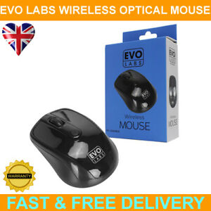 Evo Labs MO-234WBLK Wireless Gloss Black Optical Mouse
