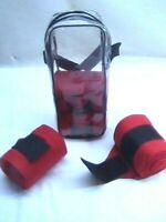D.A. Brand Set of four Red soft fleece polo wraps horse tack equine