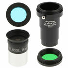 1.25inch 31.7mm Eyepiece PL 8mm +5X Barlow Lens +Telescopes Astronomy Filter picture