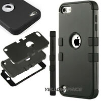 Shockproof Anti Slip Case Cover for iPod Touch 7th 6th 5th [Kids Friendly],Black