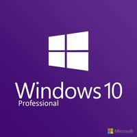 Microsoft Windows 10 Professional Pro 32&64 Bit Vollversion Produkt Product Key