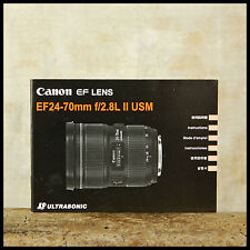 FREE UK POST Canon Instruction Manual 24 70mm F2.8 L EF USM Pro Zoom Lens