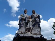Antique Porcelain Virgin Mary Madonna with Child Saint Joseph Jesus Statuett