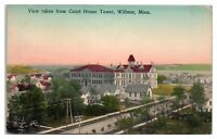 Early 1900s View of Willmar, MN from Courthouse Tower Postcard