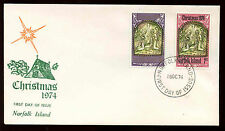 Norfolk Island 1974 Christmas FDC First Day Cover #C13926