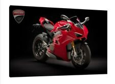 Ducati Panigale V4S - 30x20 Inch Canvas Wall Art Framed Picture Print