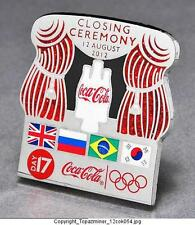 OLYMPIC PINS BADGE 2012 LONDON ENGLAND UK COKE SPONSOR CLOSING CEREMONY FINAL
