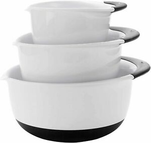 OXO Good Grips Mixing Bowl Set with Black Handles, 3Piece
