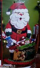 "Bucilla ""3-D TRADITIONAL SANTA"" Felt Christmas Centerpiece Kit OOP MINT"