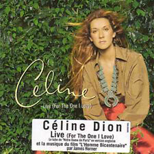★☆★ CD Single Céline DION	Live (for the one I love) 2 Tracks CARD SLEEVE Sticker