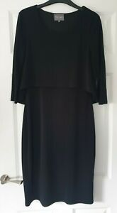 Phase Eight Ladies Black Stretch Dress - Size 12