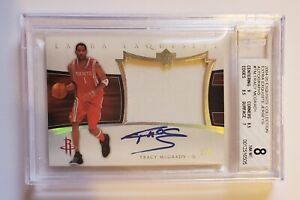 2004-05 Upper Deck Exquisite Collection Tracy McGrady Extra Auto Jersey /5 BGS 8