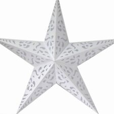 Stern Papierstern Weihnachtsstern Leuchtstern Lampe Papier Faltstern weiß 38