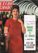 Echo Mode 18/1963 Sylvie Vartan Françoise Hardy Joubert