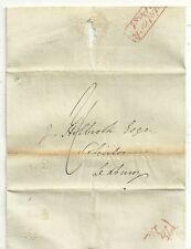 # 1836 RARITY F RED TAVISTOCK PENNY POST DEVON WRAPPER & UNREC? NO 2 TO LEDBURY