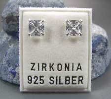 NEU 925 Silber OHRSTECKER 6mm ZIRKONIA STEINE kristallklar/crystal OHRRINGE