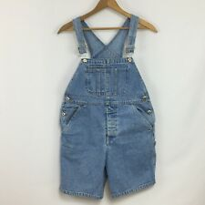 GAP Blue Denim Bib Overalls Shorts Farmer Romper Kid's Size Large