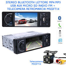 "Autoradio 3,6"" LCD Bluetooth AUX USB  Telecamera 4 LED Auto Camper Retromarcia"