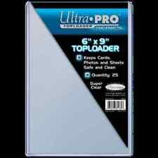"""Ultra Pro Toploader 6""""x9"""" Clear Card Photo Holder 25 Pack - Case Top Loader CDG"""