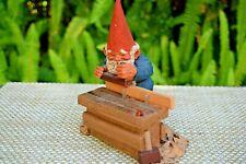 "1993 Enesco Klaus Wickl Gnome Rien Poortvliet "" Joseph"" Figurine ~ Signed"