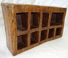 Vintage Hardwood Carved Box w. 9x Compartments (Tam)