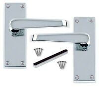 Modern Victorian Chrome Scroll Door Handles Latch Handles Stylish Handles D13