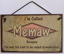 Memaw s Sign Retro Grandma Mom Vintage Best Cool Mother Day Parent Gift Decor