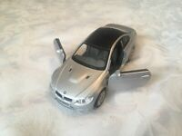 KINSMART 1:36 BMW M3 COUPE SILVER DIECAST MODEL CAR OPENING DOORS PULLBACK