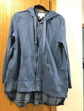EUC Evy's Tree Bryony Hoodie In Dusty Blue Size LARGE