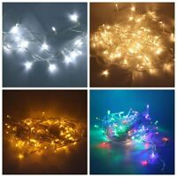 10M 100leds LED String Light Transparent Wire 110V Wedding Party Fairy Xmas Lamp