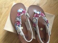 Pepe  desiner Girls sandals, cream floral design.  Size UK 11 Eur 30