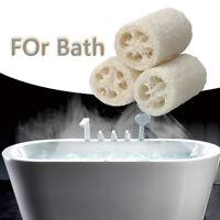 3pcs Natural Loofah Luffa Loofa Sponge Bath Shower Sponge Scrubber Organic G9C