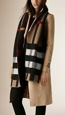Burberry Mega Wool & Cashmere Blanket Scarf Unisex, Bi-color, New, Ori$495!!!