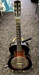 Vintage Faux Resonator Dobro Slide Acoustic Guitar