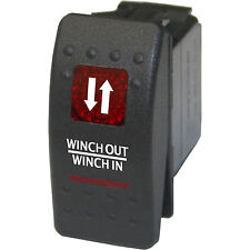Rocker switch 553RM 12V Winch in and out MOMENTARY RED dpdt