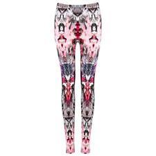 ALEXANDER MCQUEEN S/S 2009 Pink Crystal Kaleidoscope Print Leggings Pants Sz XS