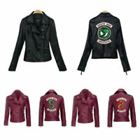 Hot Popular Southside Riverdale Serpents PU Leather Jacket Women Streetwear Coat