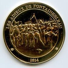 France Médaille vermeil Napoleon Les adieux de Fontainebleau 1814