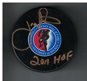 Joe Nieuwendyk HALL OF FAME Autographed Hockey Puck SIGNED HOF 11